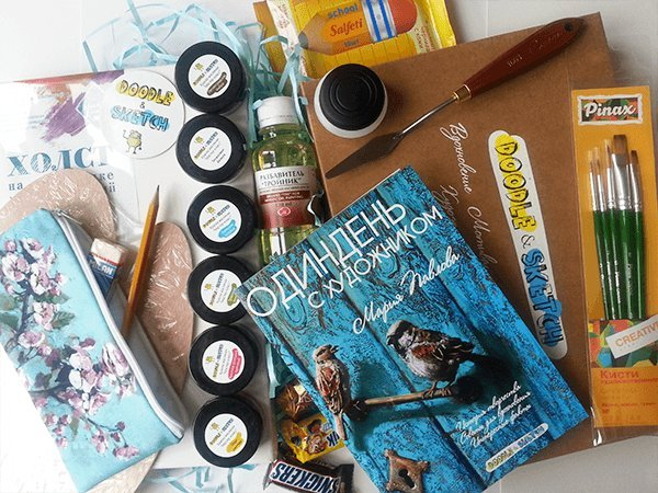 Doodle&Sketch Author's Box - inspiration gifts, art supplies and interviews from modern artists