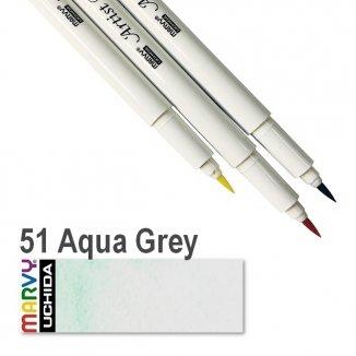 51 Aqua Grey Artist Brush Marvy