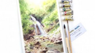 Watercolor video drawing lesson